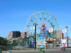 Coney Island Framed by Beautifully Bleak Project Buildings