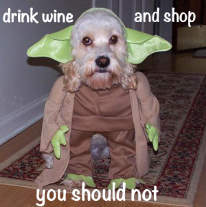 drink wine and shop you should not meme monday winner debra modisette