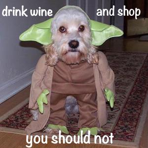 drink wine and shop you should not meme monday winner debra modisette