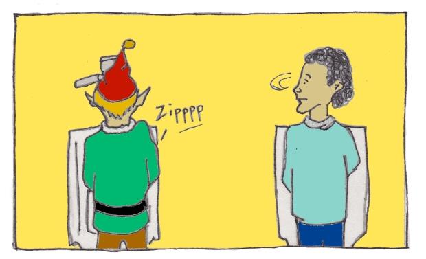 Why Elves Don't Use Urinals baseballfordinner.com comics by Scott Watson