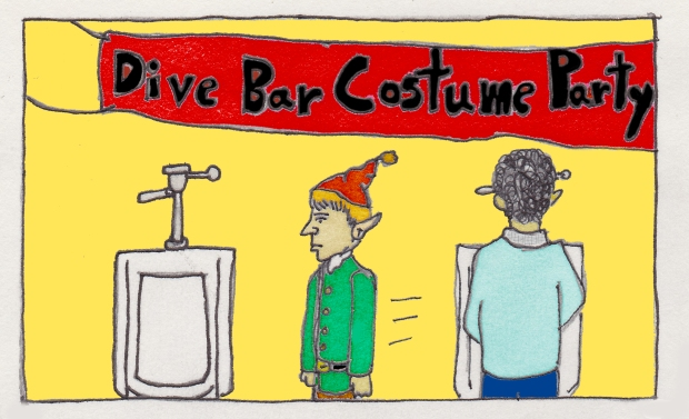 Why Elves Don't Use Urinals baseballfordinner.com comics by Scott Watson